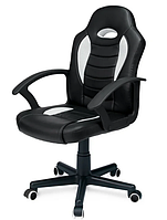 Кожаный стул кресло компьютерное, офисное черное Sofotel Eago EG-2166