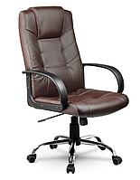 Кожаный стул кресло компьютерное, офисное коричневое Sofotel Eago EG-221