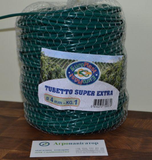 Кембрик - Агротрубка для подвязки растений, 4 мм (1 кг) длина 160 метров Super Extra Италия