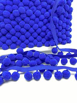 Тесьма с помпонами 20 мм синий