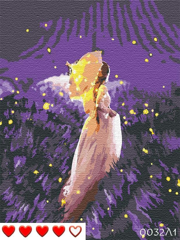 Картина по номерам (рисование по цифрам, живопись) 0032Л1 (Ночь)