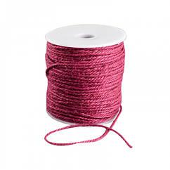 Мотузка декоративна, Колір: Бордовий, Розмір: Товщина 2мм, близько 100м/котушка, (УТ100021026)