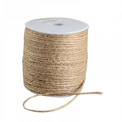 Мотузка декоративна 2мм, Колір: Бежевий, Розмір: Товщина 2мм, близько 100м/котушка, (УТ100021028)