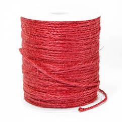 Мотузка декоративна, Колір: Червоний, Розмір: Товщина 2мм, близько 100м/котушка, (УТ100021030)