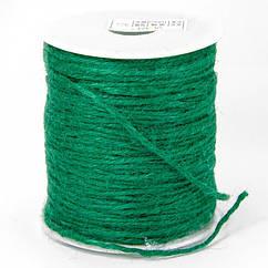 Мотузка декоративна, Колір: Зелений, Розмір: Товщина 2мм, близько 100м/котушка, (УТ100021031)