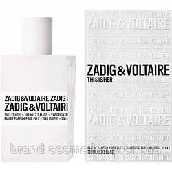Женская парфюмированная вода Zadig & Voltaire This is Her