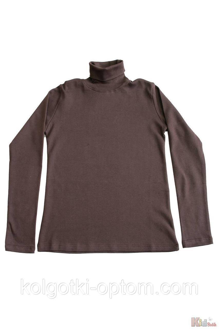 ОПТОМ Упаковка (158-164-170-176)  Гольф шоколадного цвета базовый для старшей девочки Lovetti 1111000001733