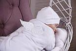 Детский комбинезон слип Angel белый с (белыми крылышками), фото 4
