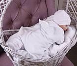 Детский комбинезон слип Angel белый с (белыми крылышками), фото 5