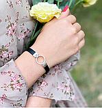 Стильний каучуковий браслет з сріблом і цирконом Коло, фото 4