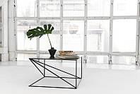 Журнальный, кофейный столик GoodsMetall металлический в стиле Лофт 400х700х700 ЖС1185