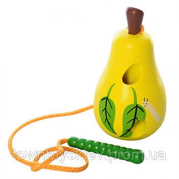Деревянная игрушка Шнуровка MD 0494 (Груша)