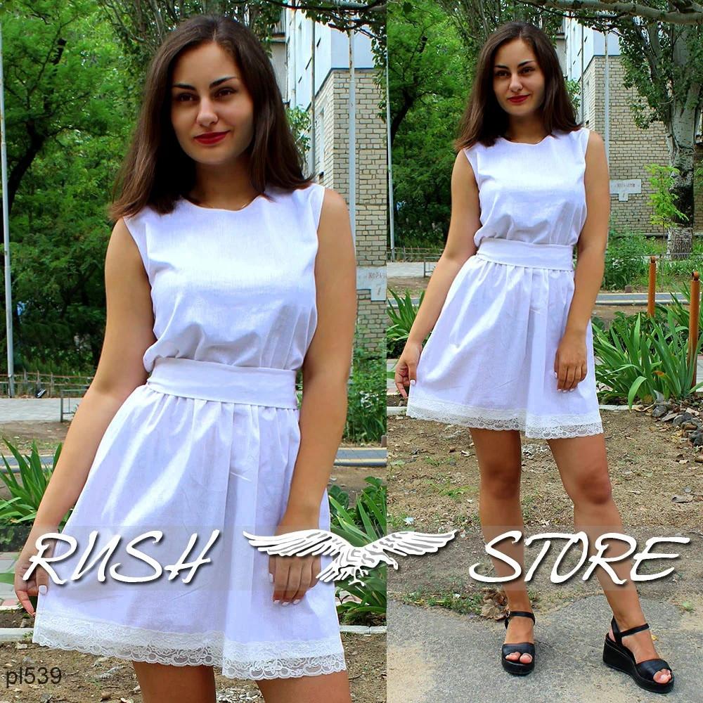Літне лляне жіноче плаття