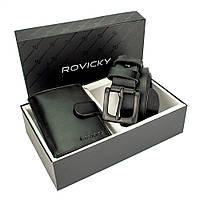 Подарочный набор мужской (ремень и кошелек) Rovicky R-N4L-110-G/5904, фото 1