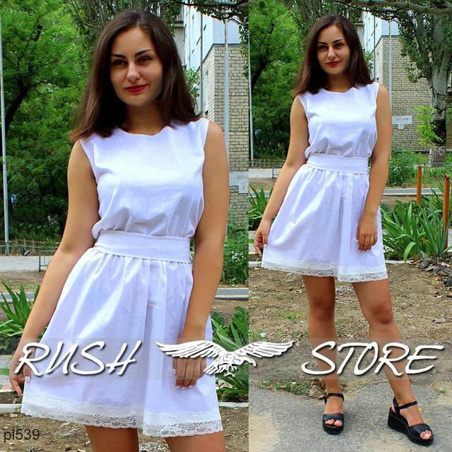 летнее льняное платье женское