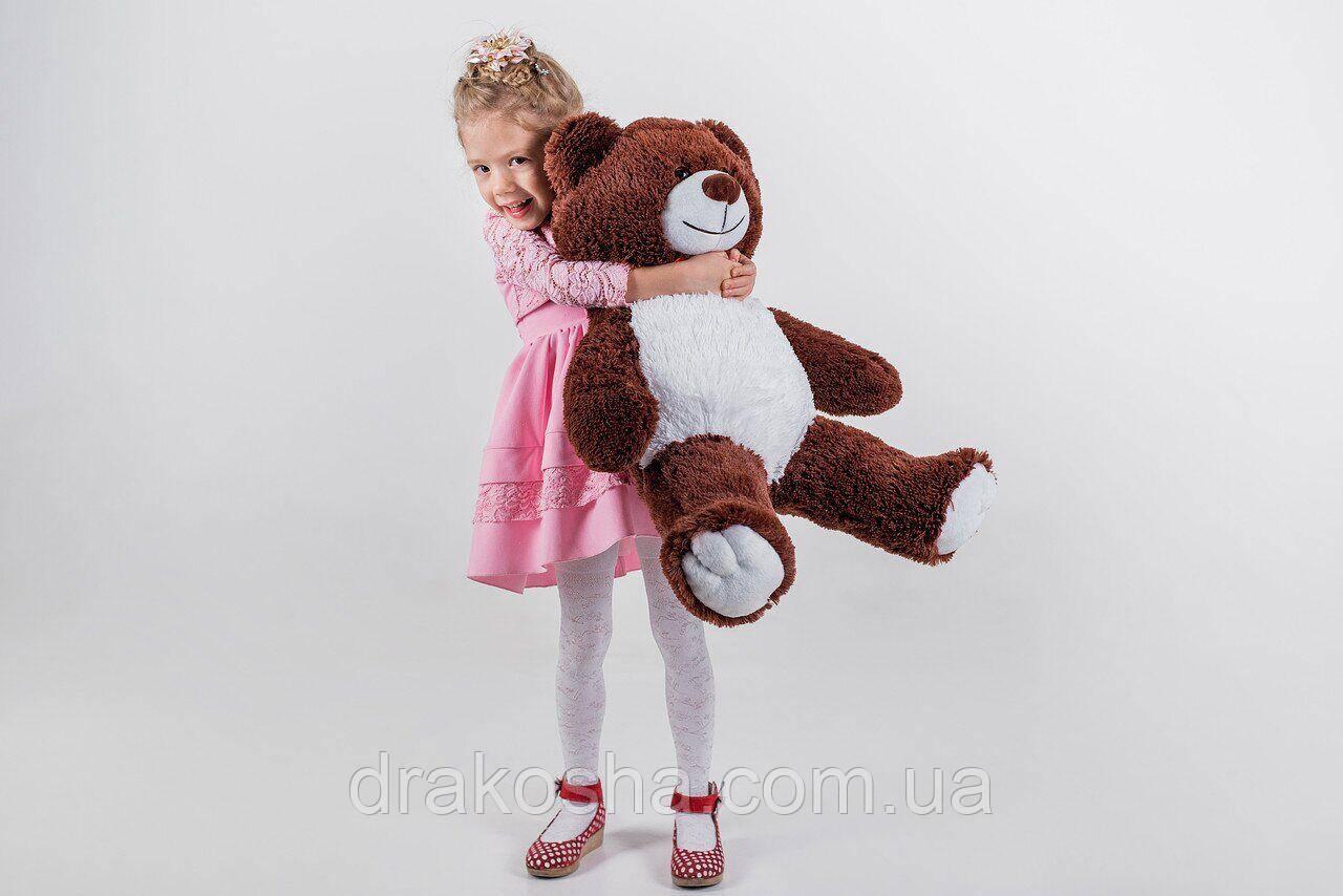 Мягкий плюшевый мишка 90 см шоколадный, мягкий медведь Yarokuz Джимми на подарок