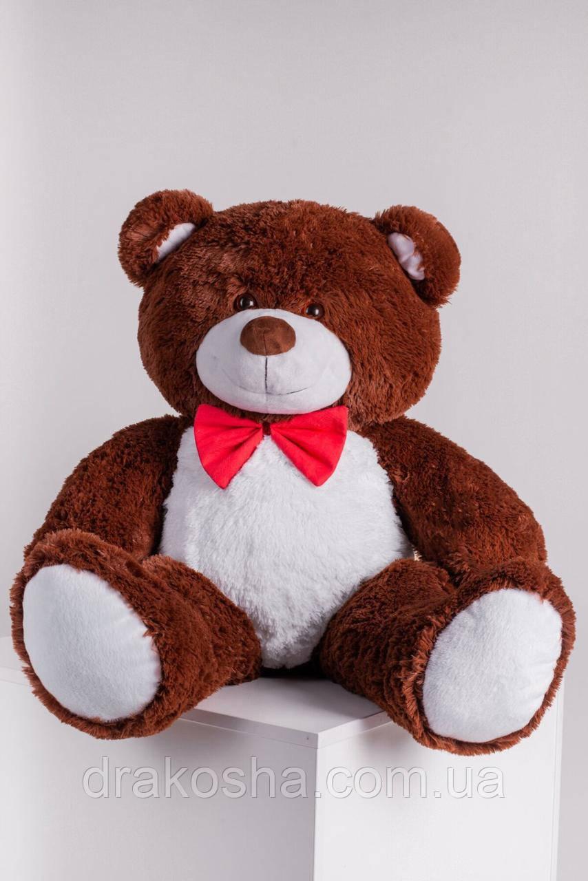 Мягкий плюшевый мишка 110 см Шоколадный, мягкий медведь Джон Yarokuz на подарок