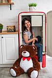 Мягкий плюшевый мишка 110 см Шоколадный, мягкий медведь Джон Yarokuz на подарок, фото 2