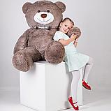 Большой мягкий плюшевый мишка с сердцем 165 см Капучино, мягкий медведь Джеральд Yarokuz на подарок, фото 5