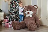 Большой мягкий плюшевый мишка 200 см Капучино, мягкий медведь Ричард Yarokuz на подарок, фото 3