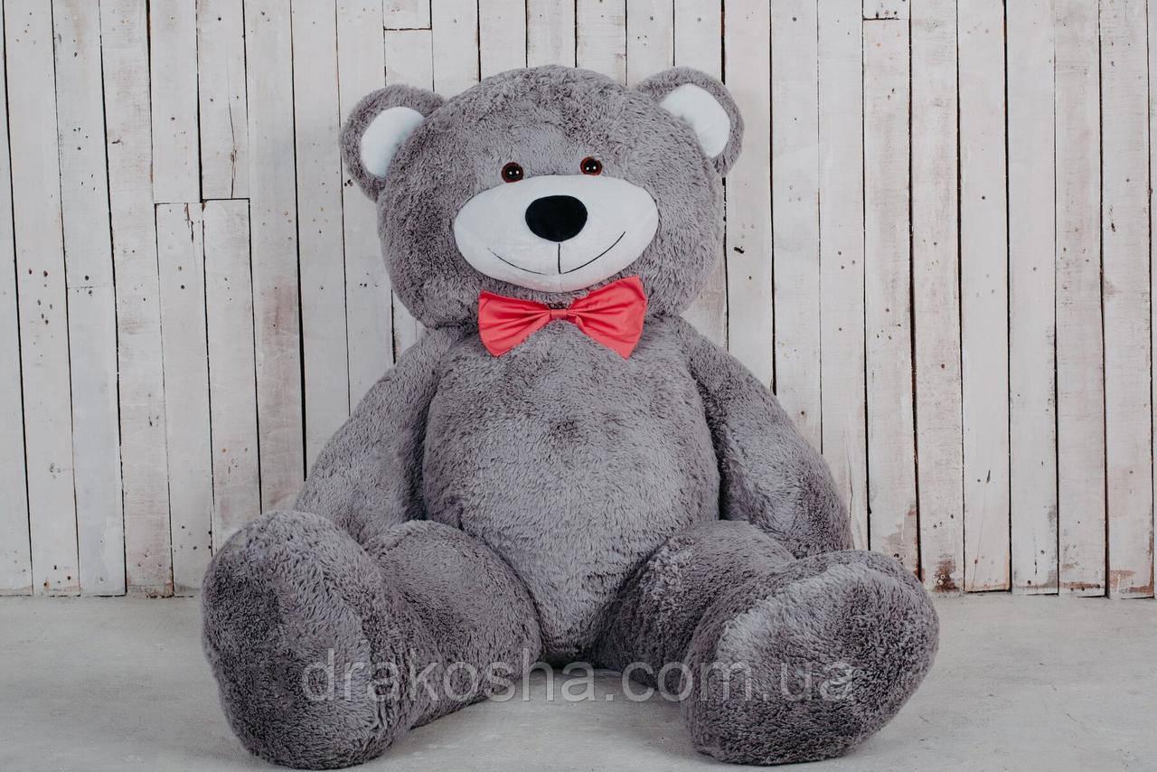 Большой мягкий плюшевый мишка 200 см Серый, мягкий медведь Ричард Yarokuz на подарок