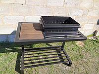 Мангал кованый со столиком и съемной жаровней GoodsMetall М33
