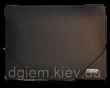Папка на резинках А4 JOBMAX пластиковая черная