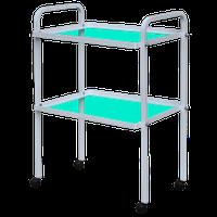 Столик инструментальный СИ-5 мобильный на колесах со стеклянными полочками