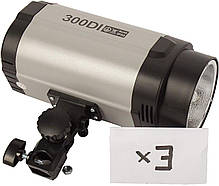 Набор импульсного света FST PHOTO EG-300DI IP33 + радиосинхронизатор, фото 2