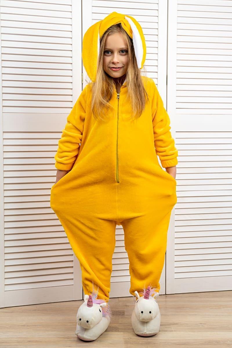 Комбинезон кигуруми детский желтый
