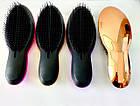Расчёска для волос SALON массажная для спутанных волос с ручкой фольга TU-PP-010816-1, фото 5