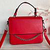 Сумочка Fuerya с декоративной цепочкой и надписью в стиле Селин красная женская сумка Сумка для девушки, фото 8