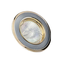 Світильник точковий Delux MR16 G5.3 HDL16002R поворотний хром матовий - золото, фото 1