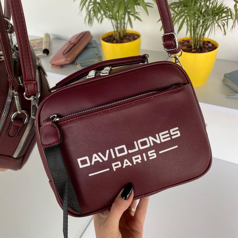 Женская сумка David Jones Sporty Бордовая женская сумка Сумка для девушки