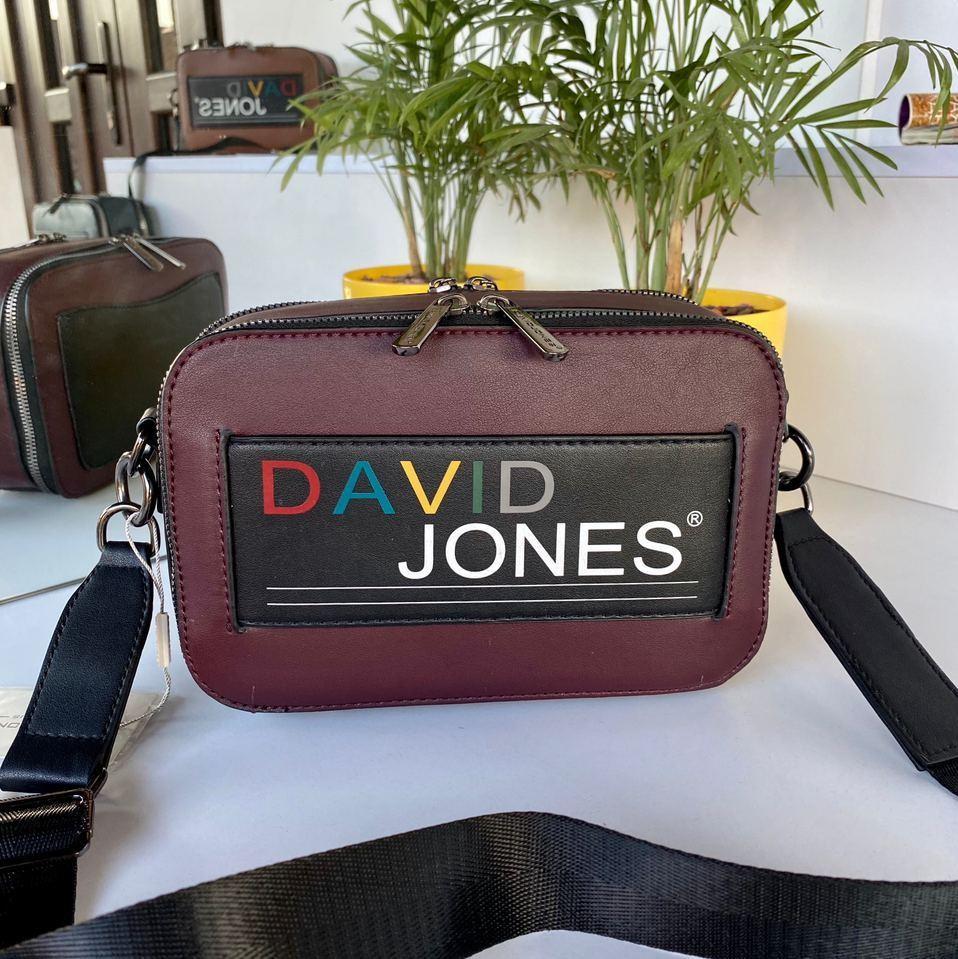Женская сумка кросс-боди David Jones Colors Бордовая женская сумка Сумка для девушки