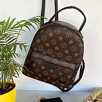 Женский каркасный рюкзак в стиле Луи Виттон коричневый Женский рюкзак Женский рюкзачок Сумка-рюкзак женская
