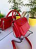 Женская сумочка Чарльз и Кейт на цепочках с высокой ручкой Красная женская сумка Сумка для девушки, фото 5