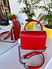 Женская сумочка Чарльз и Кейт на цепочках с высокой ручкой Красная женская сумка Сумка для девушки, фото 8