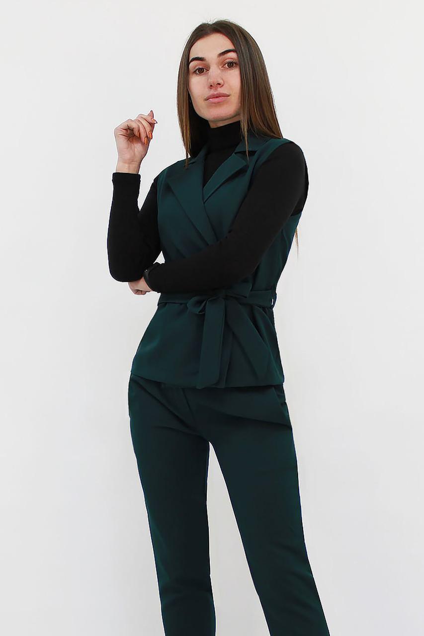 Стильный брючный костюм Archer, темно-зеленый