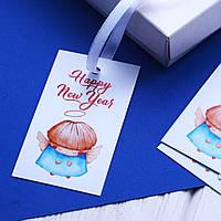 "Бирка ""Happy New Year"" (ангел)"