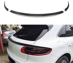 Карбоновый спойлер Porsche Macan тюнинг (3 части)