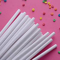 Трубочки бумажные (белые), 25 шт.
