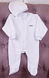 Детский комбинезон слип Angel белый с (розовыми крылышками), фото 3