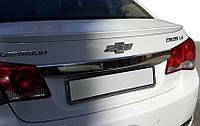 Chevrolet Cruze 2009↗ гг. Накладка над номером (нерж) OmsaLine - Итальянская нержавейка, фото 1