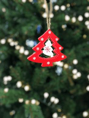 Украшение декоративное, Елка деревянная 9*8 см, House of Seasons, цвет красный, фото 2
