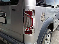 Ford Connect 2010-2014 гг. Накладки на стопы вариант №1 (2 шт, пласт), фото 1