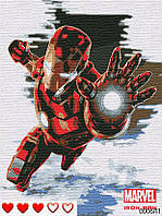 Картина по номерам (рисование по цифрам, живопись) 0006Л1 (Железный человек | Iron Man)