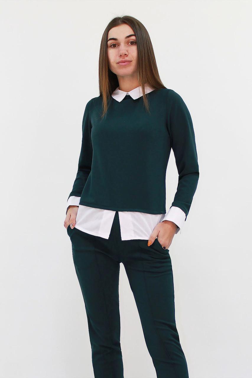 Молодежный женский костюм Nevil, темно-зеленый