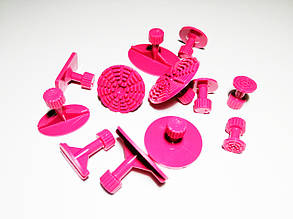 Набор насадок ZIRY PDR для минилифтера 12pcs pink