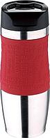 BG-5958-RD bergner Термокружка 400 мл, із нержавіючої сталі, пластикова кришка, силіконова нековзна